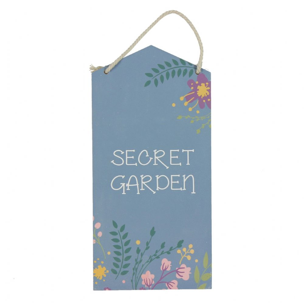 Secret Garden Hanging Wooden Plaque Sign For The Garden
